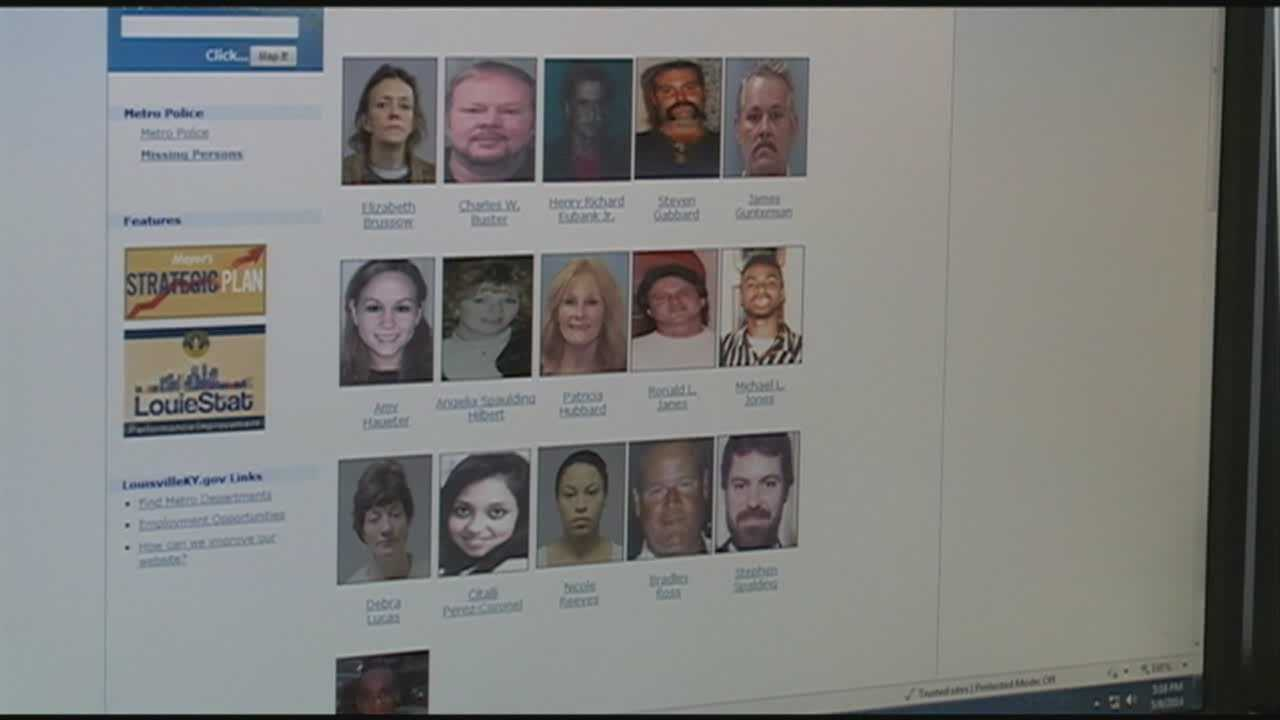 Louisville Metro Police set up an online database for missing persons and cold homicide cases.