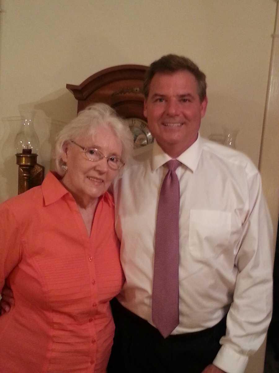 Anchor Rick Van Hoose and his mom