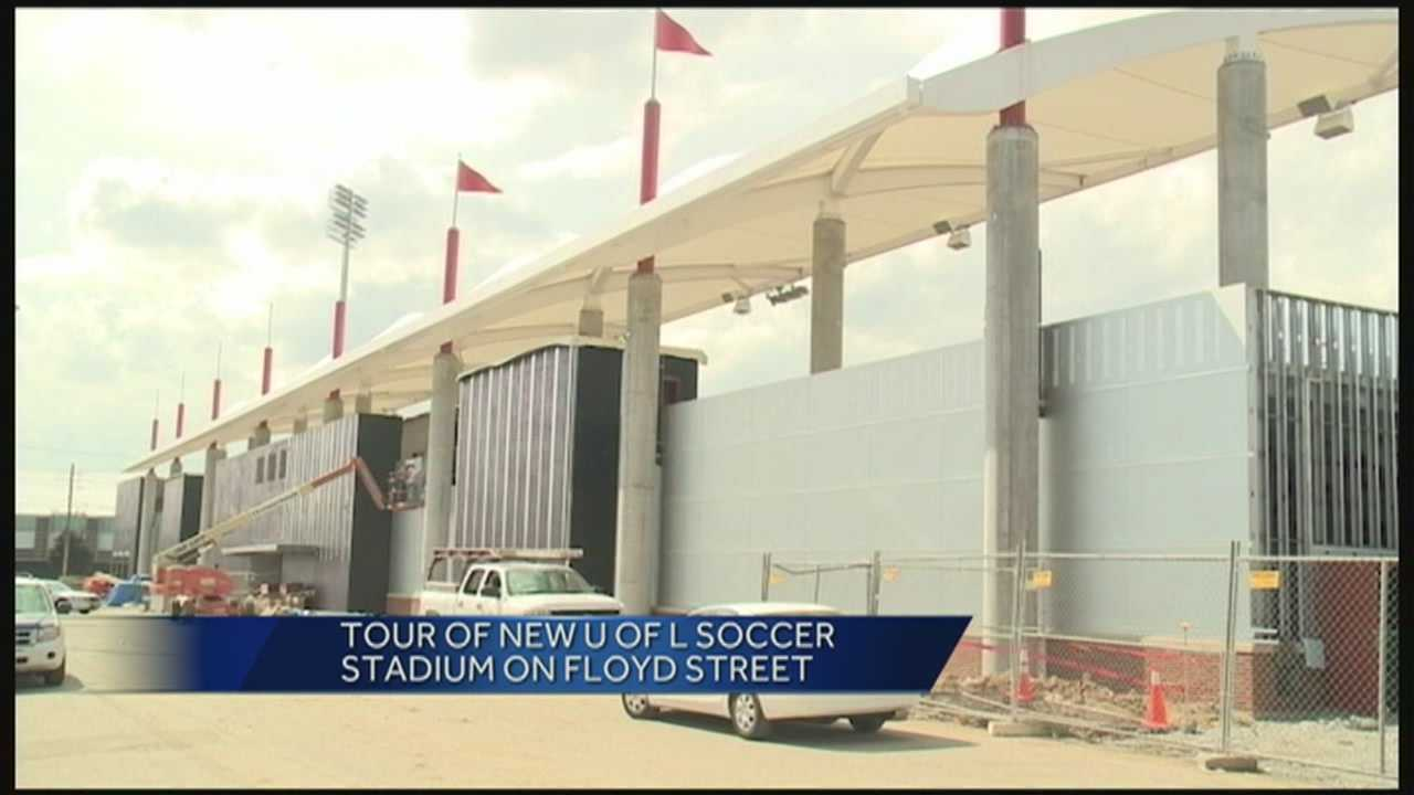 UofL gave a first look at the new soccer stadium.