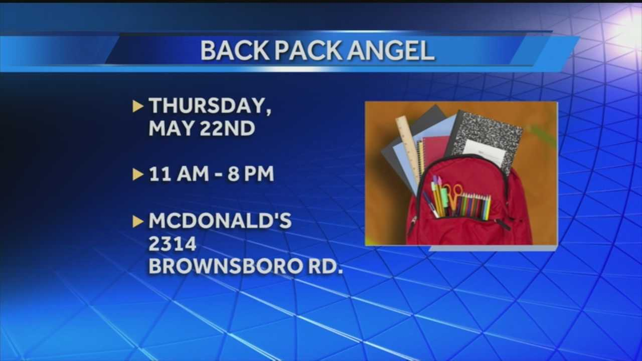 Service for Peace and McDonald's are teaming up with to prepare for next school year with the Backpack Angel program.