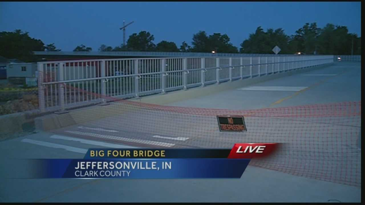 The Indiana side of the Big Four Bridge could possibly open as soon as Tuesday.