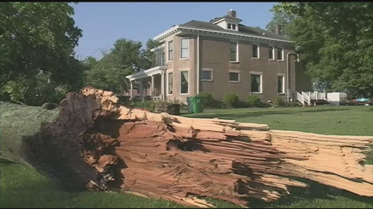 Residents in Shelby County spent the day Thursday cleaning up storm damage from overnight.
