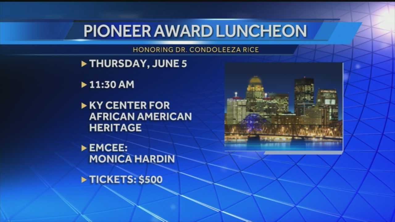 A Louisville group is presenting a special honor to former Secretary of State Condoleeza Rice.