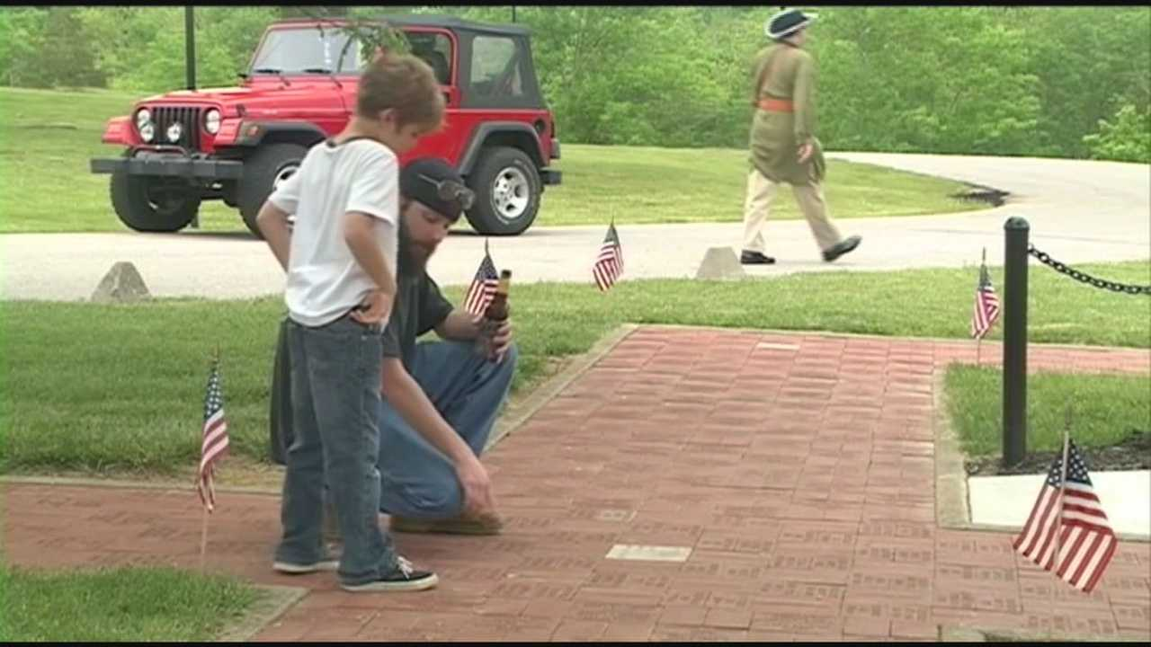 Crowds gather at the Jeffersontown Veterans Park to remember the nation's veterans on Memorial Day.