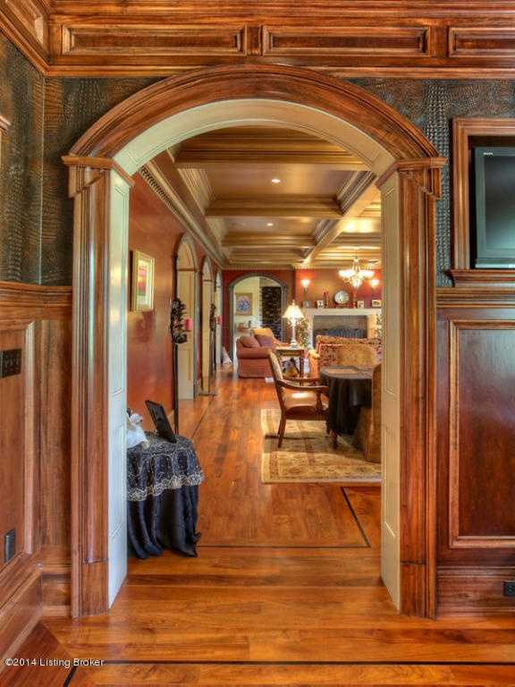 From this parlor area you are led to the gorgeous great room.