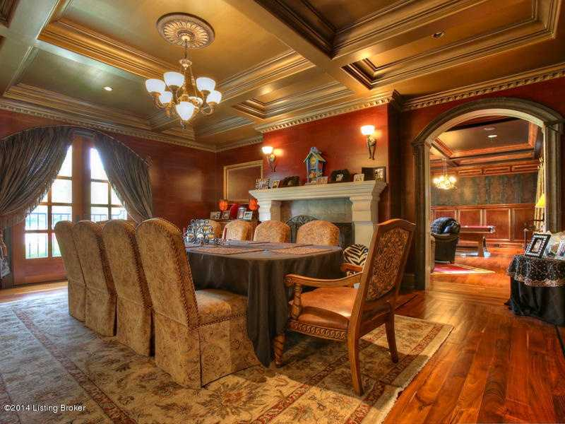 The dining area is lies near the fireplace and boasts a fabulous view.