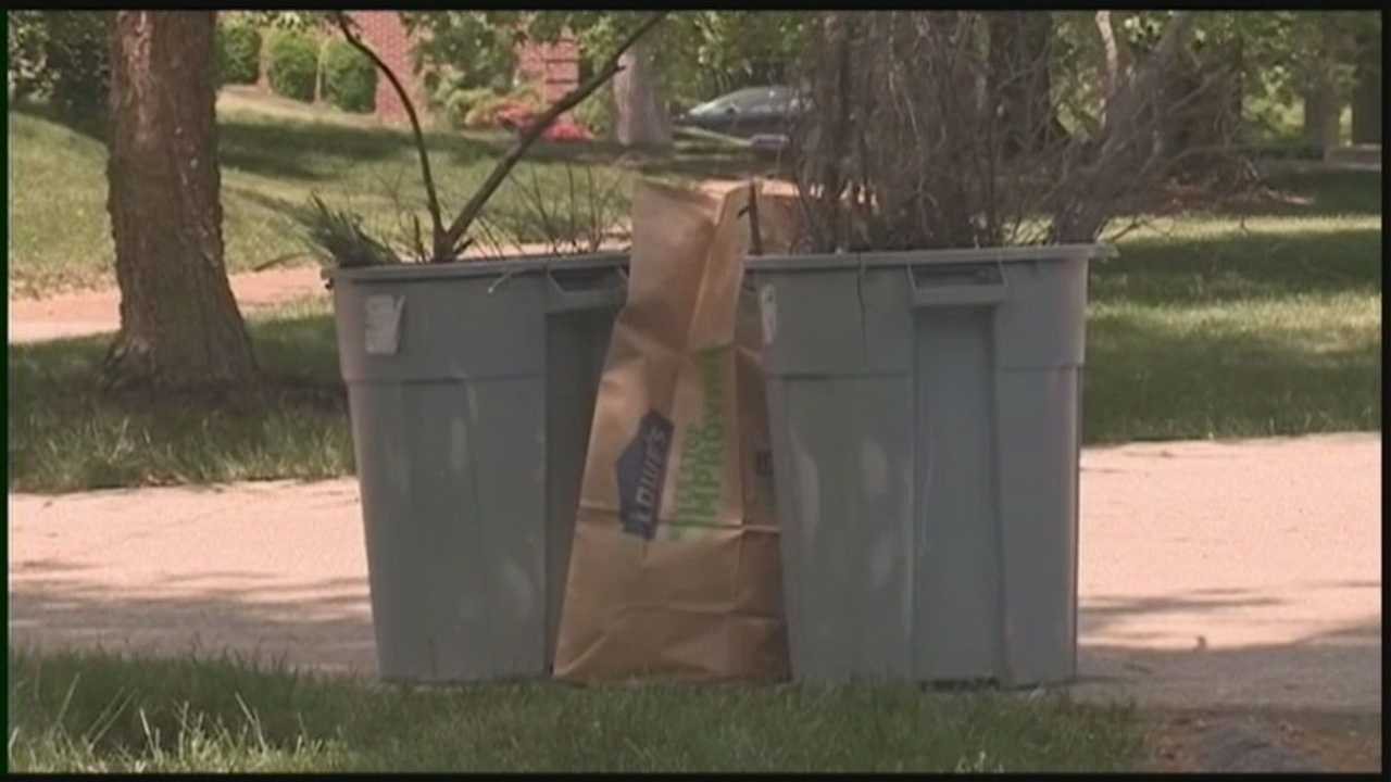 A new ban on using plastic bags for yard waste takes effect on Jan. 1, 2015.