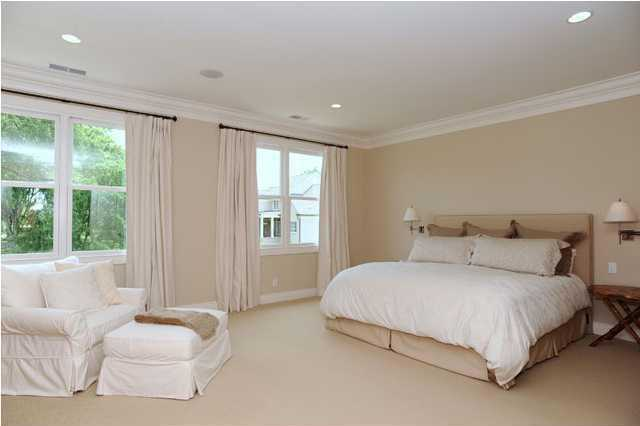 Spacious master bedroom also has great views from the second floor.