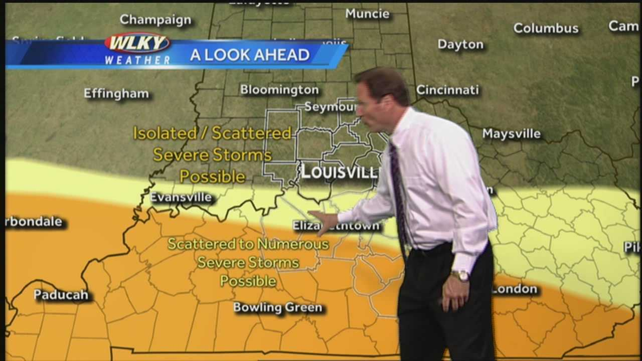WLKY's Jay Cardosi has a look at the potential for severe weather on Wednesday evening.