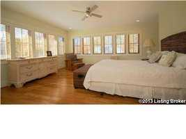 Panoramic views in the second floor master suite.