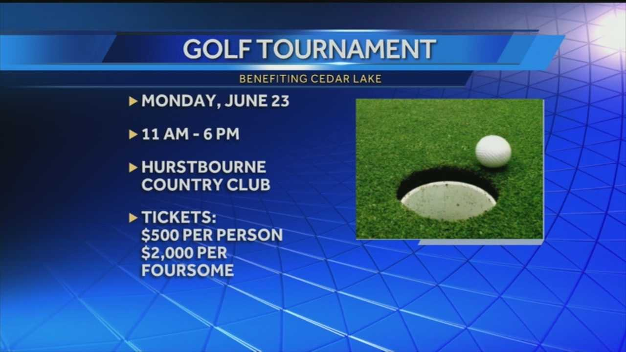 An upcoming golf tournament is being held to benefit Cedar Lake.