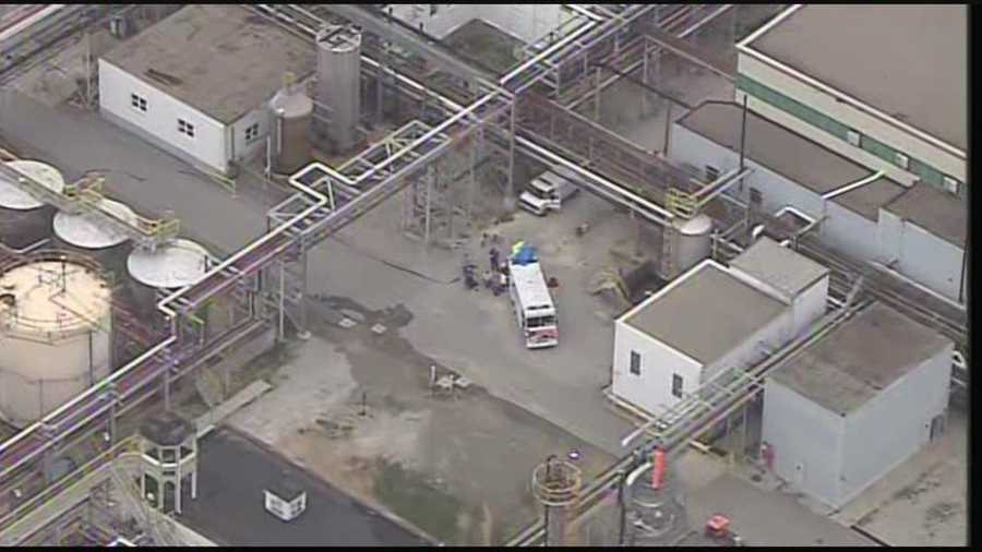 A chemical leak at American Synthetic was quickly contained Monday morning.