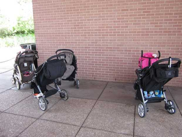 Stroller -- Stroller valet at all the attractions around town. Let your little ones out of their rolling cages for a while.