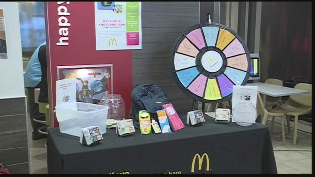 One McDonalds location is giving a portion of proceeds to help kids buy school supplies.
