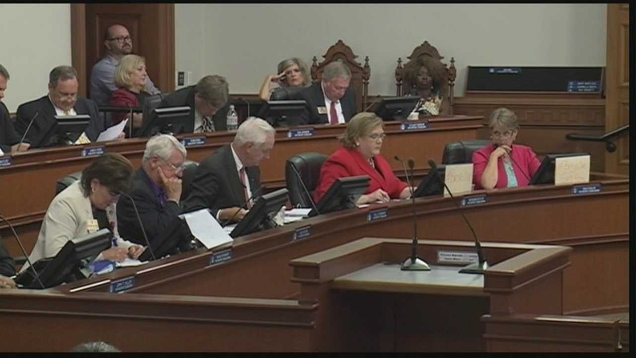 The Louisville Metro Council approves a budget Thursday night.
