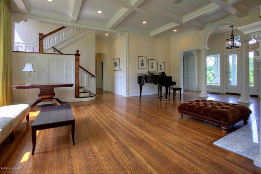 The foyer leads to you a wide, open floorplan.