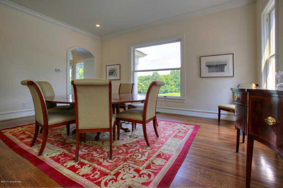 While this table seats for six, the room can easily accommodate a larger table.
