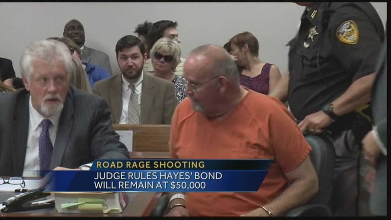 A judge has denied a request to lower the bond set for an accused road rage shooter.