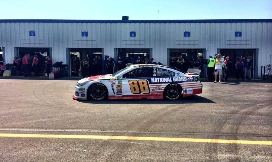 Dale Earnhardt Jr. driving