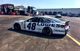 Jimmie Johnson driving