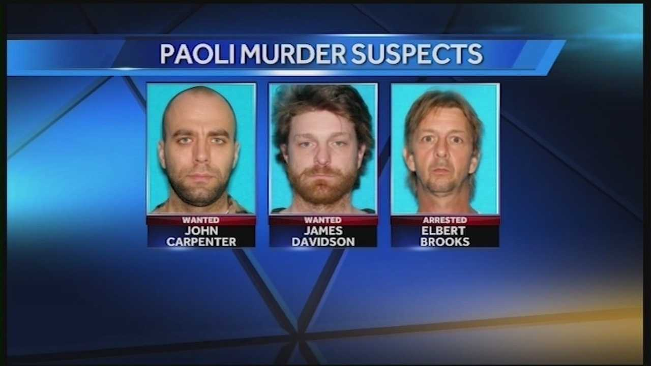 The search continues for suspects wanted in connection with a triple shooting in Paoli.