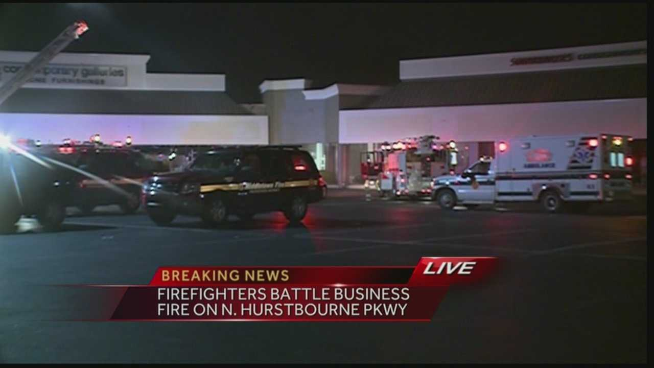 A fire broke out Tuesday morning in a furniture store.