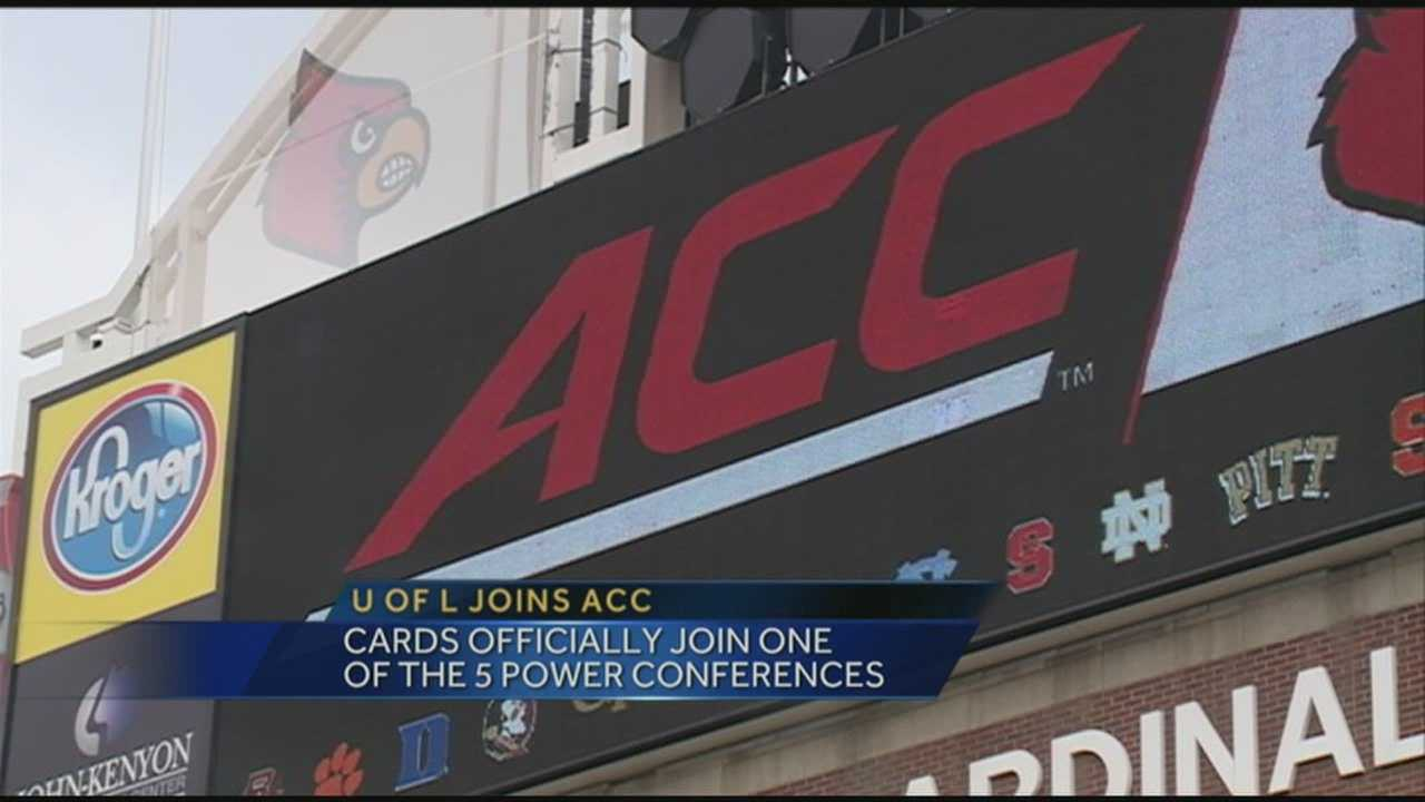 The University of Louisville officially becomes the 15th member of the Atlantic Coast Conference on Tuesday.