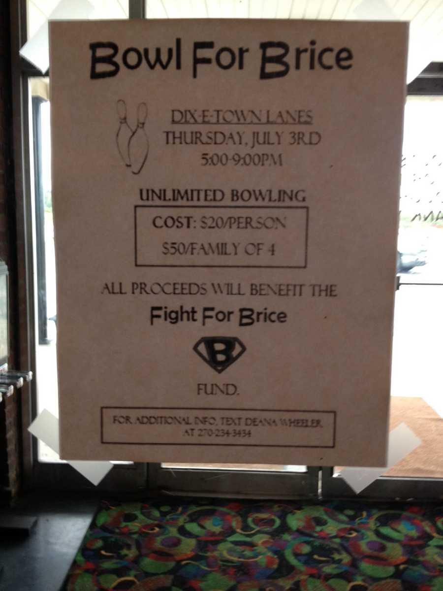 """""""Bowl for Brice"""" is being held Thursday night Elizabethtown."""
