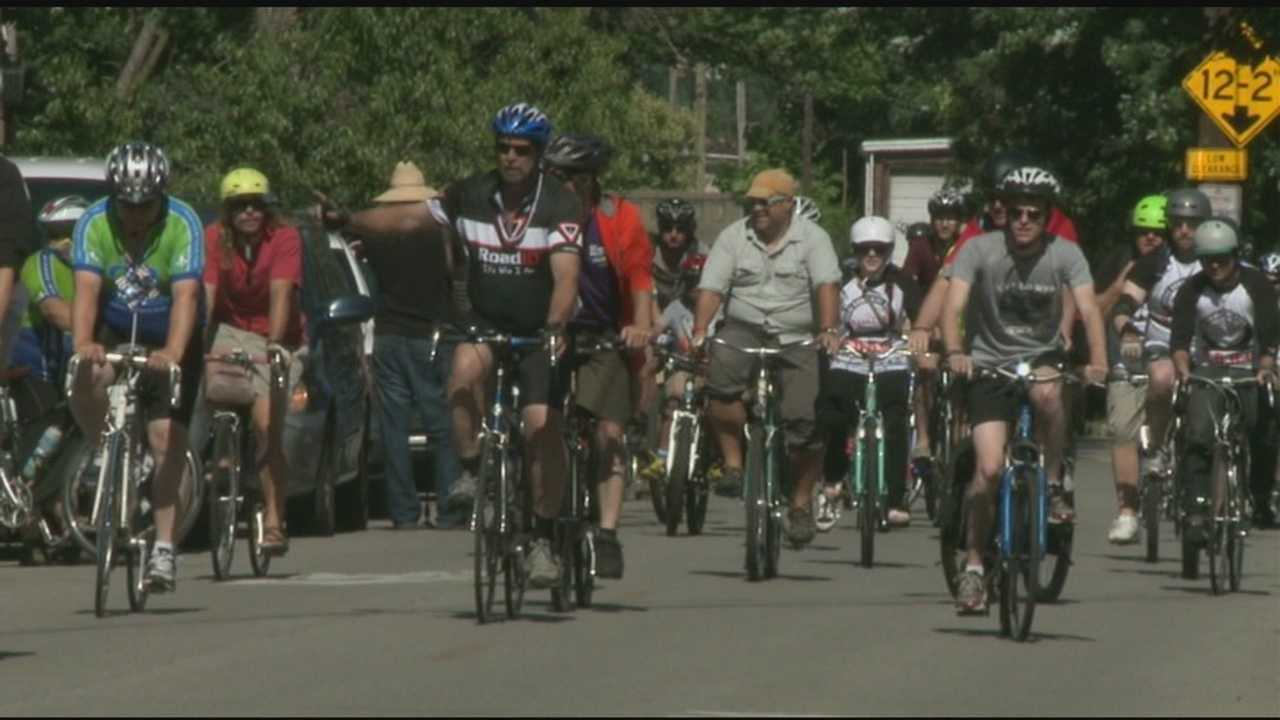 Cyclists celebrate Fourth of July by pedaling along new bike lanes