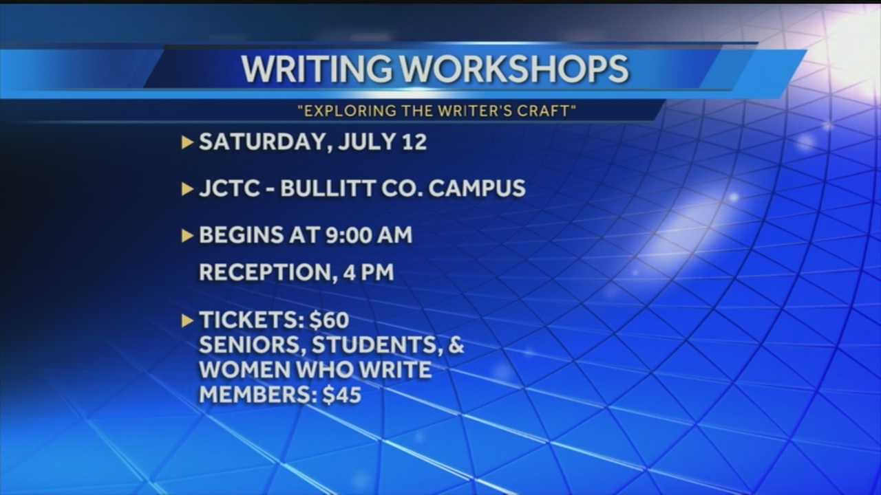 Writers are encouraged to attend a workshop being planned for next weekend.