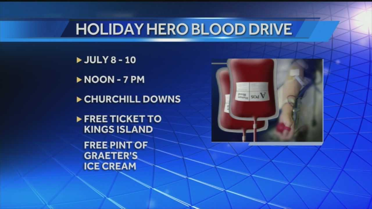 The Red Cross will be holding a blood drive Tuesday through Thursday this week.
