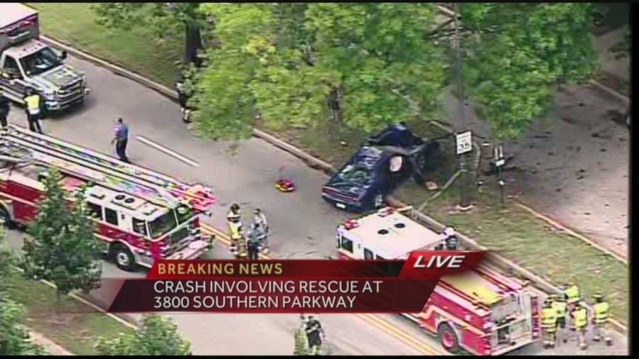 A rescue is underway after a crash on Southern Parkway.