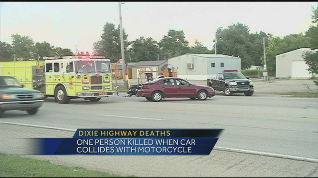 Two people were killed in two separate accidents on Dixie Highway.