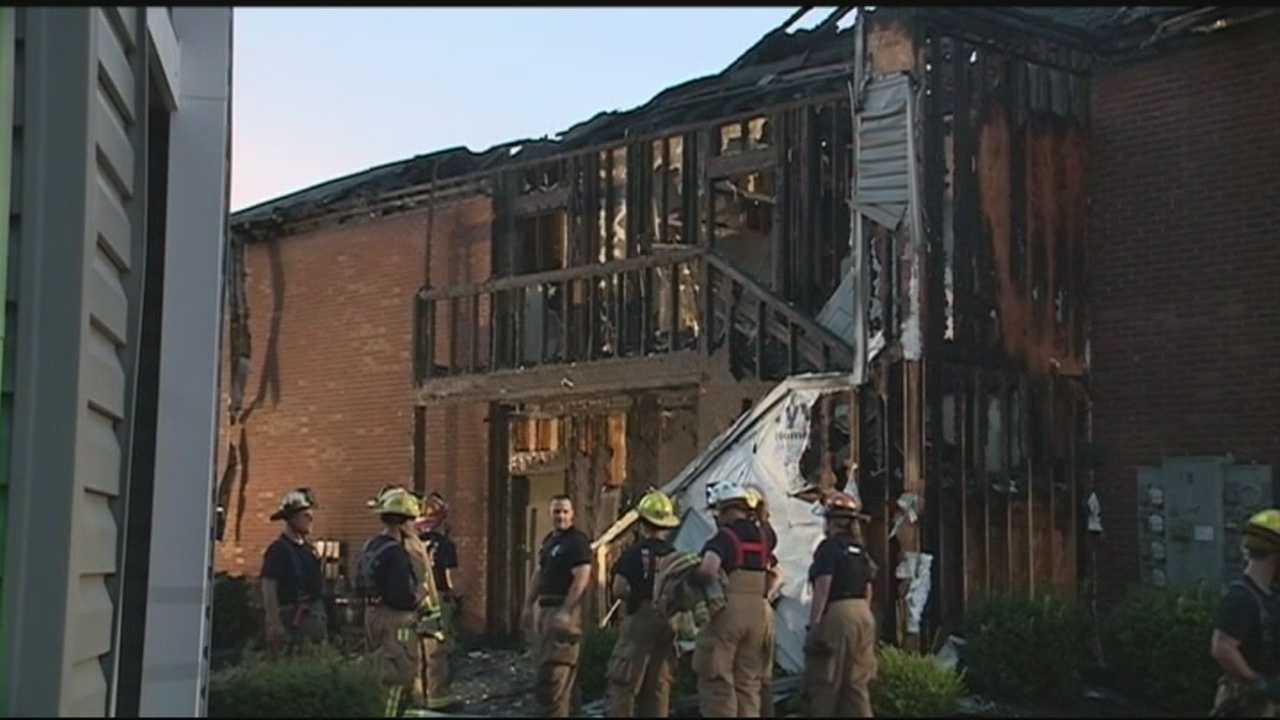 A middletown apartment building is destroyed and several families are displaced after an early morning fire.