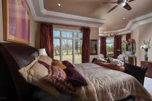 Relaxing view from the master bedroom.