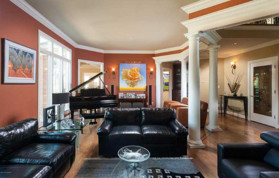 A classic piano adds ambiance to a night of entertaining.