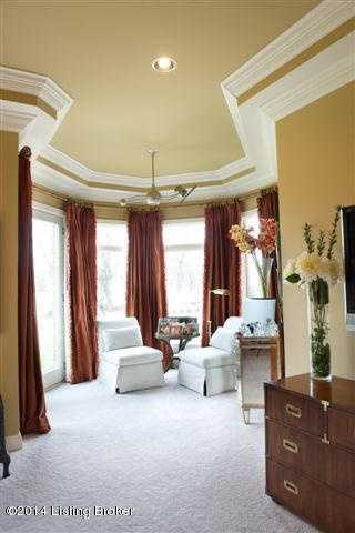 The master bedroom also includes a turret style sitting room.