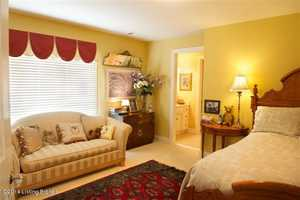 This is yet another spacious bedroom boasting a private bathroom as well.