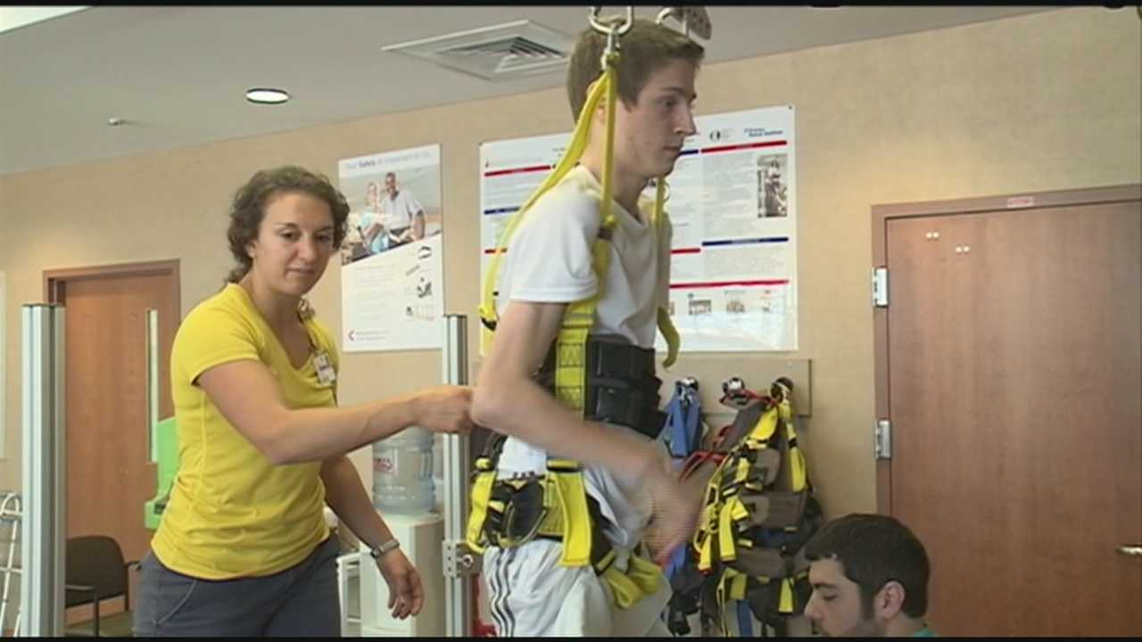 Doctors with Frazier Rehab are helping patients with spinal cord injuries to walk again.