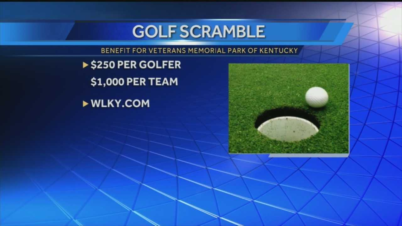 A golf scramble is being planned for later this month to benefit a veteran's memorial park project.