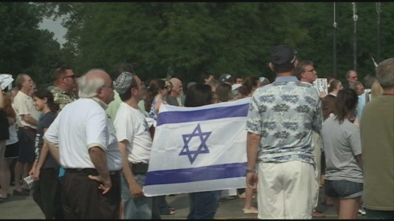 Demonstration held over Israeli offensive in Gaza Strip