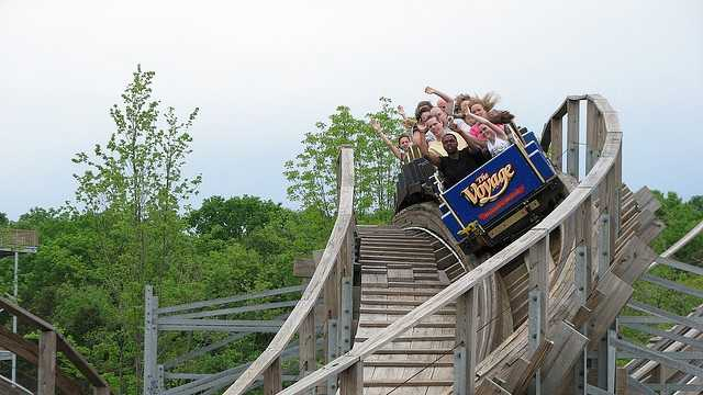 21. Holiday WorldHoliday World is one of the area's favorite amusement parks. Splashin' Safari boasts the two longest watercoasters in the world while the dry part of the park holds the nation's #1 Wooden Coaster, The Voyage, according to TIME magazine. Buy tickets online ahead of time starting at $34.95 per person.