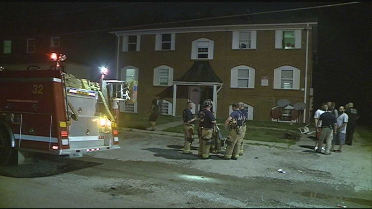 Two people were rescued from an apartment fire and taken to an area hospital.