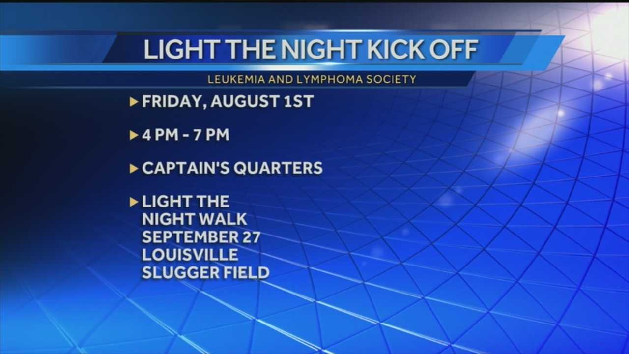 A kickoff event is planned for Aug. 1 ahead of this year's annual Light the Night Walk.