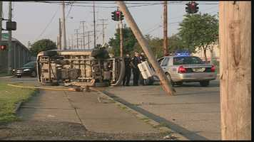 The crash happened at 12th and Kentucky streets around 7:30 a.m.