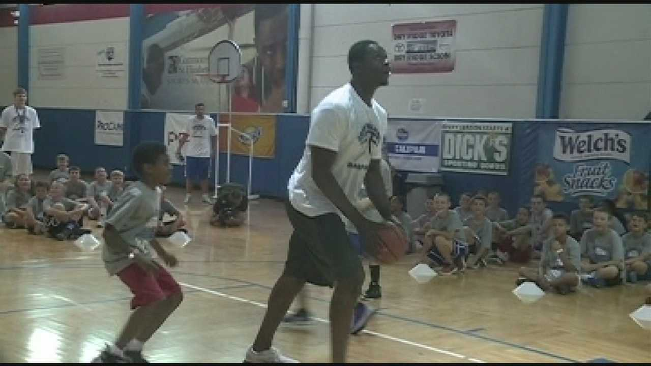 Basketball camp gets special guest
