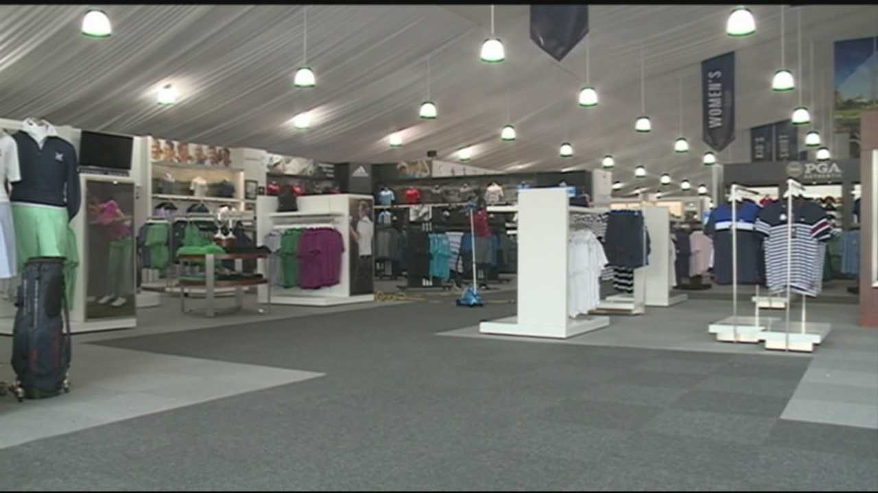 The PGA shop will soon be open at Valhalla ahead of next week's PGA Championship.