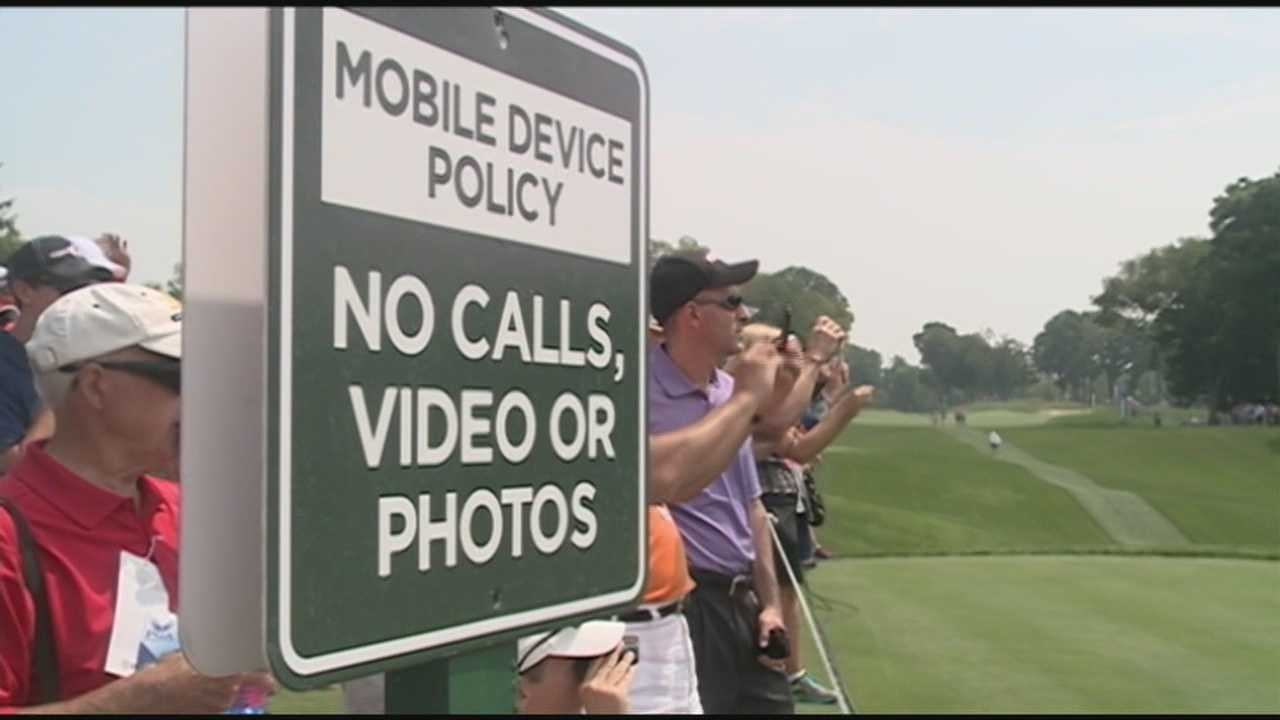 The use of cellphones is limited during the PGA Championship.
