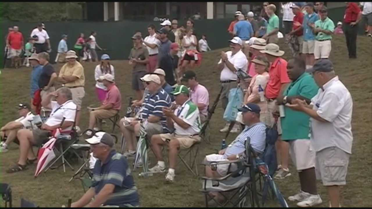 Golf fans will pack the 18th green for the end of the PGA Championship on Sunday evening.