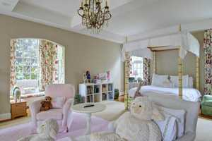 This large bedroom has a private bay window and is also en suite.